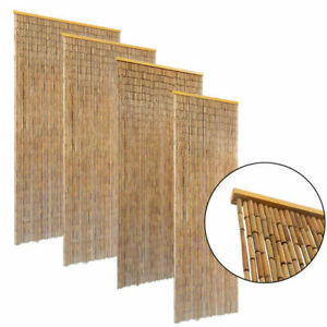 Beaded Insect Door Curtain Bamboo Bug Fly Screen Privacy Divider Hanging Closet