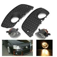 For VW Golf Jetta MK5 06-09 Front Bumper Lower Grille + H11 Fog Lights Lamp Set