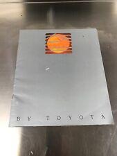 Toyota MR2 Car Brochure Mk1