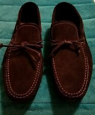 Hugo Boss Deep Blue Moccasins Driver Suede Loafers Size 10.5 US Made in India
