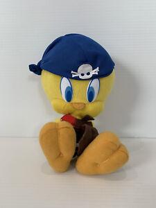 Looney Tunes Tweety Bird Pirate Plush 25cm Free Tracked Post