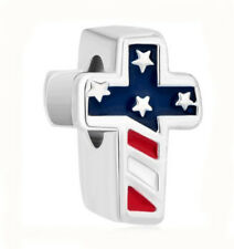 1Pcs Ensign/Flag The Cross Charms Silver bead Suit Bracelet/Necklace Chain