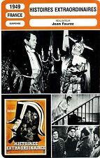 Movie Card. Fiche Cinéma. Histoires extraordinaires (France) Jean Faurez 1949