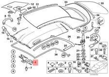 Genuine BMW E46 Cabrio Right Removable Top Lock OEM 54218228922