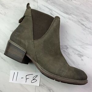 Timberland Sutherlin Bay Slouch Chelsea Olive Suede ((Size 11)) Women's.      F8