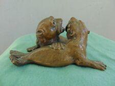Antique Bronze Sculpture - Seals - Sea Lions
