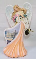 Bradford Exchange Thomas Kinkade Gifts of Christmas Amaryllis Angel Figurine