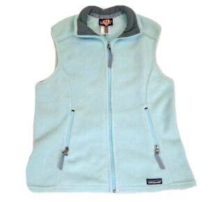 Patagonia Synchilla Womens Blue Sweater Fleece Vest Zip Size Large 25163F4