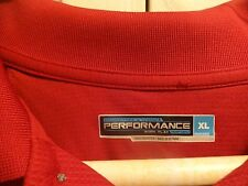 Roundtree & Yorke Men's Red S/S Performance Polo Size XL