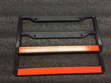 2 Orange Line License Plate Frame thin REFLECTIVE SUPPORT THE POLICE safety