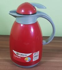 Metaltex 899284 Isolierkanne Calipso mit Glaseinsatz, 1,0 L Thermoskanne Rot