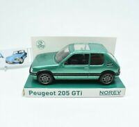 Model Car Peugeot 205 Gti Scale 1/43 diecast NOREV vehicles road Green