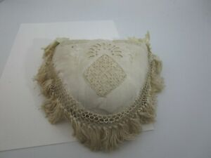 19th C Antique Victorian Fancy Frilly Sewing Pin Cushion