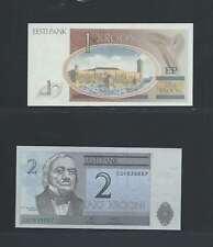 Estonie     Lot de 2 billets  différents  en état NEUF Lot N° 1