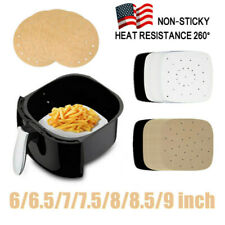 100PCS 6-9inch Bamboo Steamer Paper Liner Perforated Air Fryer Liners Non-Stick!