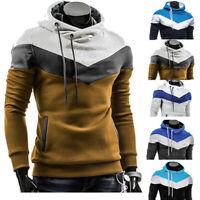 Mens Slim Winter Warm Hooded Sweatshirt Hoodie Coat Jacket Outwear Sweater Hoodi