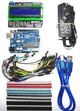 Arduino UNO Rev3 (Compat.)+Aliment 12VDC-1A+Placa BBoard de 400 Puntos+65 Cables