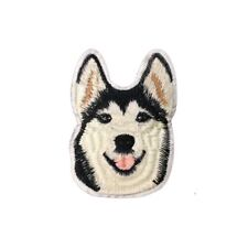 Husky Dog (Iron On) Embroidery Applique Patch Sew Iron Badge
