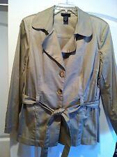 DFA New York Khaki Blazer Trench Coat Womans Sz 16