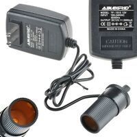 AC 110-220 to 12 Volt 12V 2A Car Charger Cigarette Lighter Socket Power Adapter