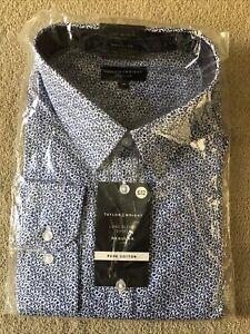 Taylor & Wright Mens Long Sleeve Shirt Size 18 Inch Collar Regular Bnip