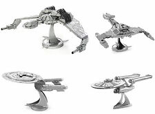 Hot toys 3D Puzzle Star Trek Puzzle Metal Construction Laser Cut Models 4pc toys
