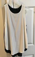 ARITZIA – WILFRED – Pyramides Blouse Sleeveless Birch/Black Size M - New W/ Tags