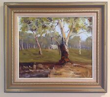 "OIL PAINTING-""THE BACK PADDOCK""-COONABARABRAN by Marjorie Curson"