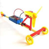 DIY Novel Racing Car F1 Air Power Handmade Wind Car Children Experiment Toys