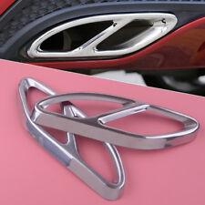2x Rear Exhaust Pipe Cover Trim For Mercedes Benz A B C E GLE GLC GLS Class W205