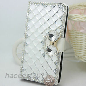 Bling leather wallet cover case For LG Tribute HD/LG X Style LS676/LG L53B/L56VL