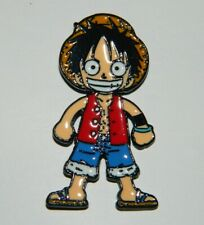 One-Piece Japanese Anime Luffy Smiling Figure Metal Enamel Pin NEW UNUSED