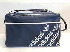 Vintage Adidas Small Duffle Bag Blue Vinyl