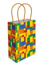 6 Bricks Paper Handle Bags  - Toy Loot/Party Bag Fillers Childrens/Kids Lego
