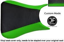 L GREEN BLACK VINYL CUSTOM FOR KAWASAKI NINJA ZX6R 636 A1P 98-03 SEAT COVER ONLY