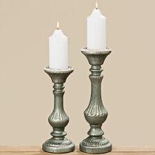 Kerzenleuchter aus Glas Vintage grau 32cm