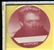 Bryan Adams 1990s Cloth Backstage Pass; Support Crew; Vintage