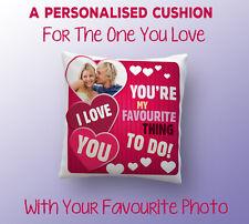 Personalizzato San Valentino Cuscino/cuscino con la tua Foto-Regalo perfetto San Valentino
