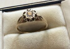 Super Quality Ladies Hallmarked Vintage Good Sized Diamond Solitaire Ring -P 1/2