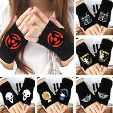 Anime Akatsuki Kakashi Fairy Tail OW Genji DVA SAO GC Fingerless Gloves Mittens