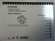 Fujifilm S8600 Printed Instruction Manual User Guide 131 Pages