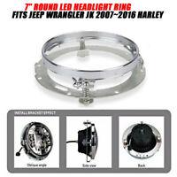 """7"""" Scheinwerfer Montagering Halter Ring Eisen Universal für Harley Davidson"""