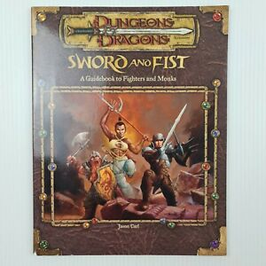 D&D Sword And Fist Guidebook To Fighters And Monks Dungeons & Dragons WTC11829