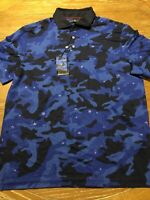 Polo Ralph Lauren Justin Thomas Limited Edition Mens Large Blue Camo Golf Shirt