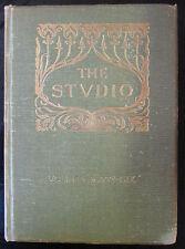 REVUES THE STUDIO 1908 - 1909  JARDINS ANGLAIS DESIGN ARCHITECTURE DECO VITRAUX