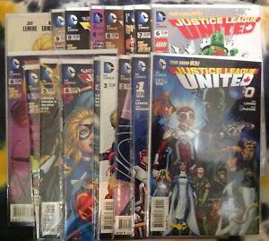 JUSTICE LEAGUE UNITED #0, 1-10 plus variants (18x) Lego, Movie  (2014) DC Comics