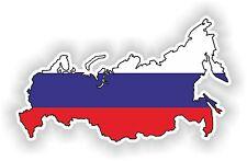 Russia LandKarte Flagge Russland Aufkleber Silhouette Motorrad Boot Fahne Auto