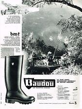 PUBLICITE ADVERTISING  1962   BAUDOU   bottes