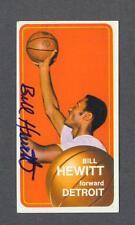 Bill Hewitt signed Detroit Pistons 1970-71 Topps basketball card