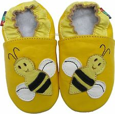 shoeszoo bee yellow 12-18m S soft sole leather baby shoes